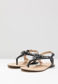 Anna Field Select - LEATHER T-BAR SANDALS - Infradito - gunmetall - 4
