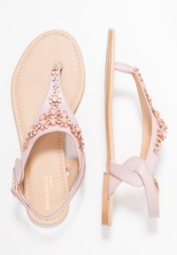 Anna Field Select - LEATHER T-BAR SANDALS - Infradito - rose gold - 3