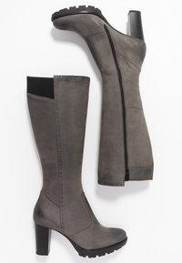 Anna Field Select - LEATHER PLATFORM BOOTS - Kozačky na platformě - grey - 3
