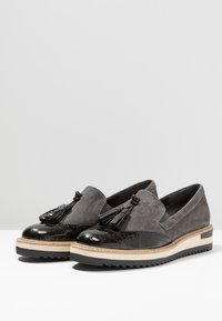 Anna Field Select - LEATHER SLIP-ONS - Slip-ons - grey - 4