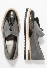 Anna Field Select - LEATHER SLIP-ONS - Slip-ons - grey - 3