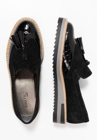 Anna Field Select - LEATHER SLIP-ONS - Mocassins - black - 3