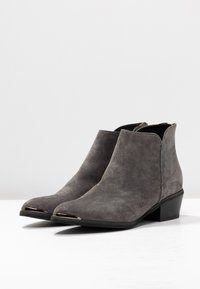 Anna Field Select - LEATHER ANKLE BOOTS - Tronchetti - grey - 4