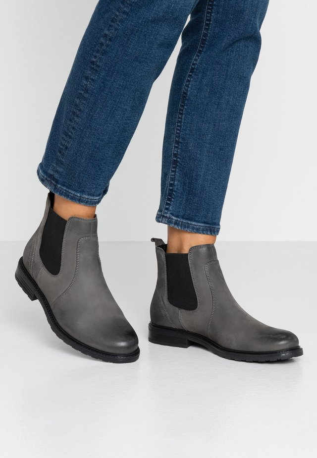 LEATHER ANKLE BOOTS - Ankelboots - grey