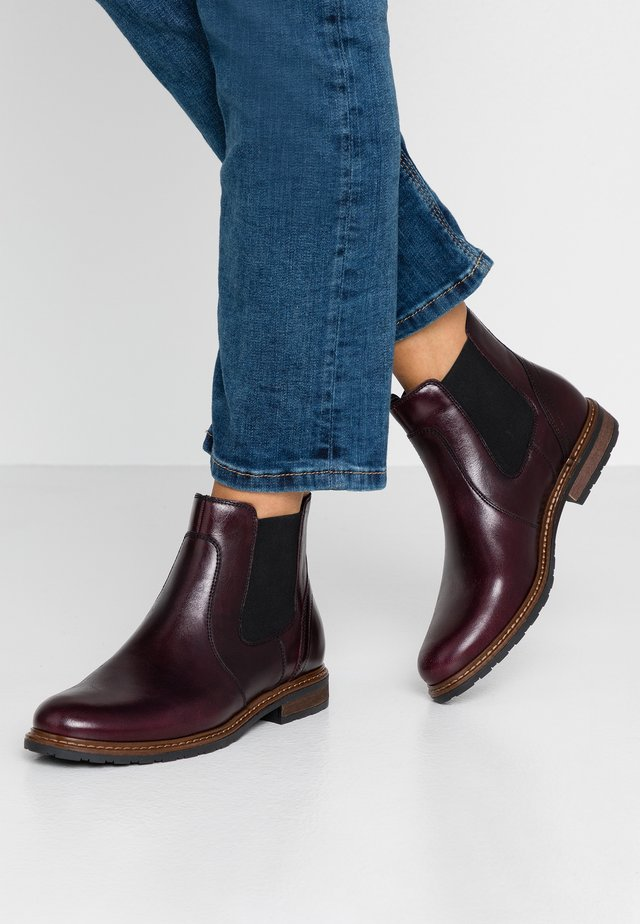 LEATHER ANKLE BOOTS - Ankelboots - bordeaux