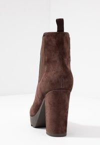 Anna Field Select - LEATHER HIGH HEELED ANKLE BOOTS - Kotníková obuv na vysokém podpatku - brown - 5