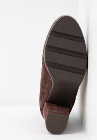 Anna Field Select - LEATHER HIGH HEELED ANKLE BOOTS - Kotníková obuv na vysokém podpatku - brown - 6