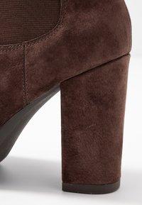 Anna Field Select - LEATHER HIGH HEELED ANKLE BOOTS - Kotníková obuv na vysokém podpatku - brown - 2