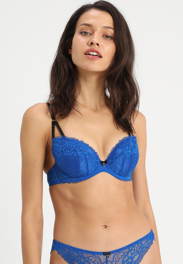 SEXY PLUNGE - Push-up BH - cobalt