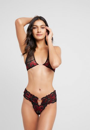 BRIELLE SET - Slip - red/black