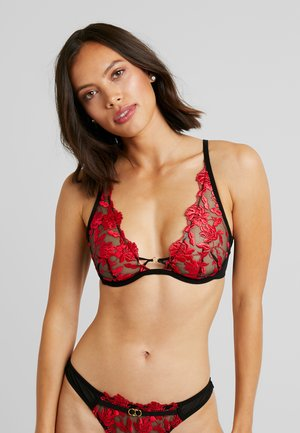 CECILE HIGH APEX NON PAD BRA - Bøyle-BH - red/black