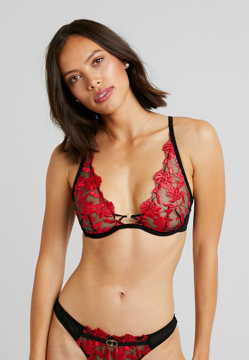 Ann Summers - CECILE HIGH APEX NON PAD BRA - Beugel BH - red/black