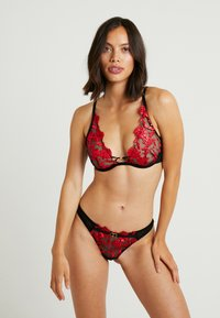 Ann Summers - CECILE HIGH APEX NON PAD BRA - Beugel BH - red/black - 1