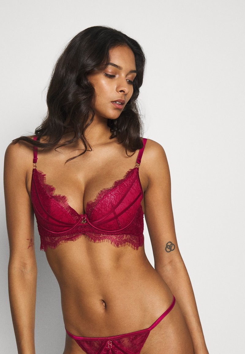 Ann Summers - THE DREAMER PLUNGE BRA - Bøyle-BH - pink/burgundy