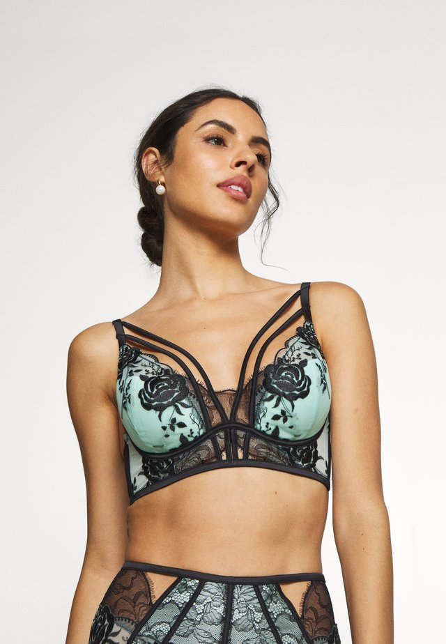 THE TREASURED PLUNGE BRA - Underwired bra - mint/black