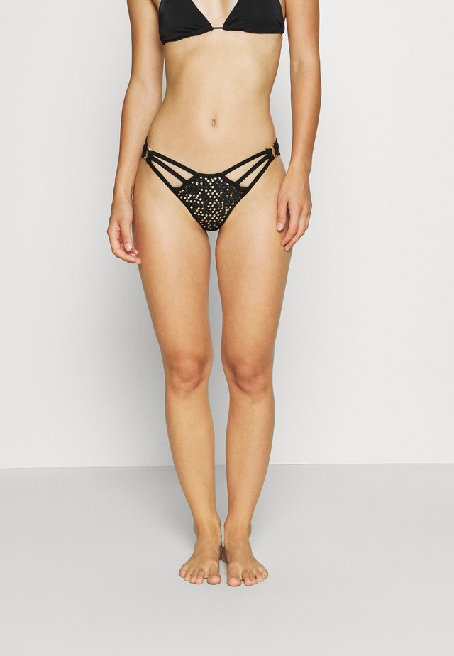 THE DISCOVERER BOTTOM - Bikini pezzo sotto - black/gold
