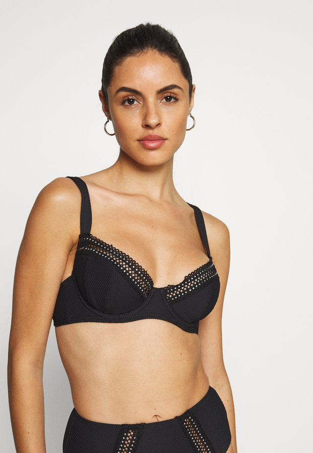 THE SUNSEEKER - Bikini top - black