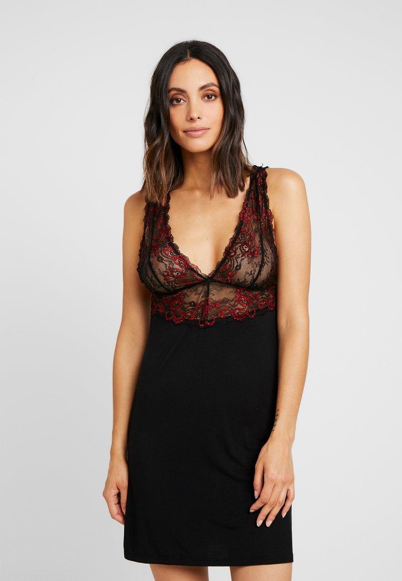 Ann Summers - EFFECT CHEMISE - Noční košile - black/red