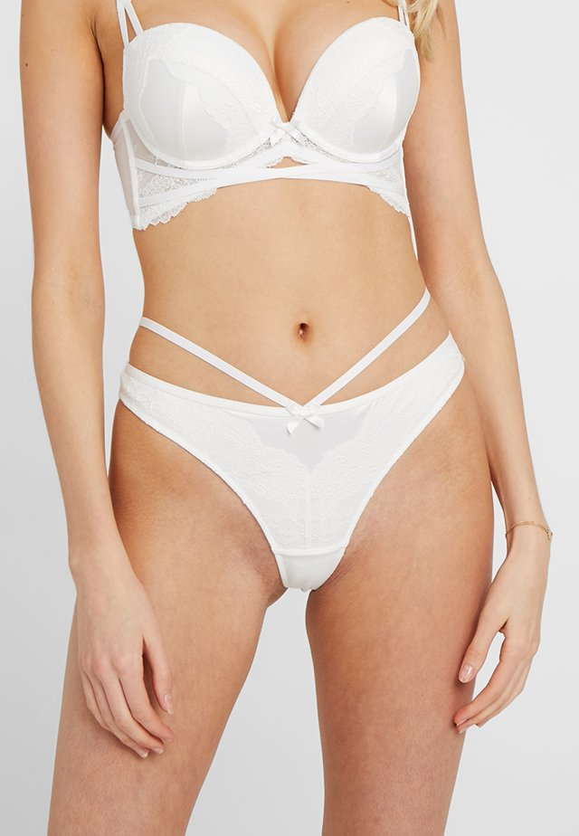 TORRIE BOOST THONG - String - white