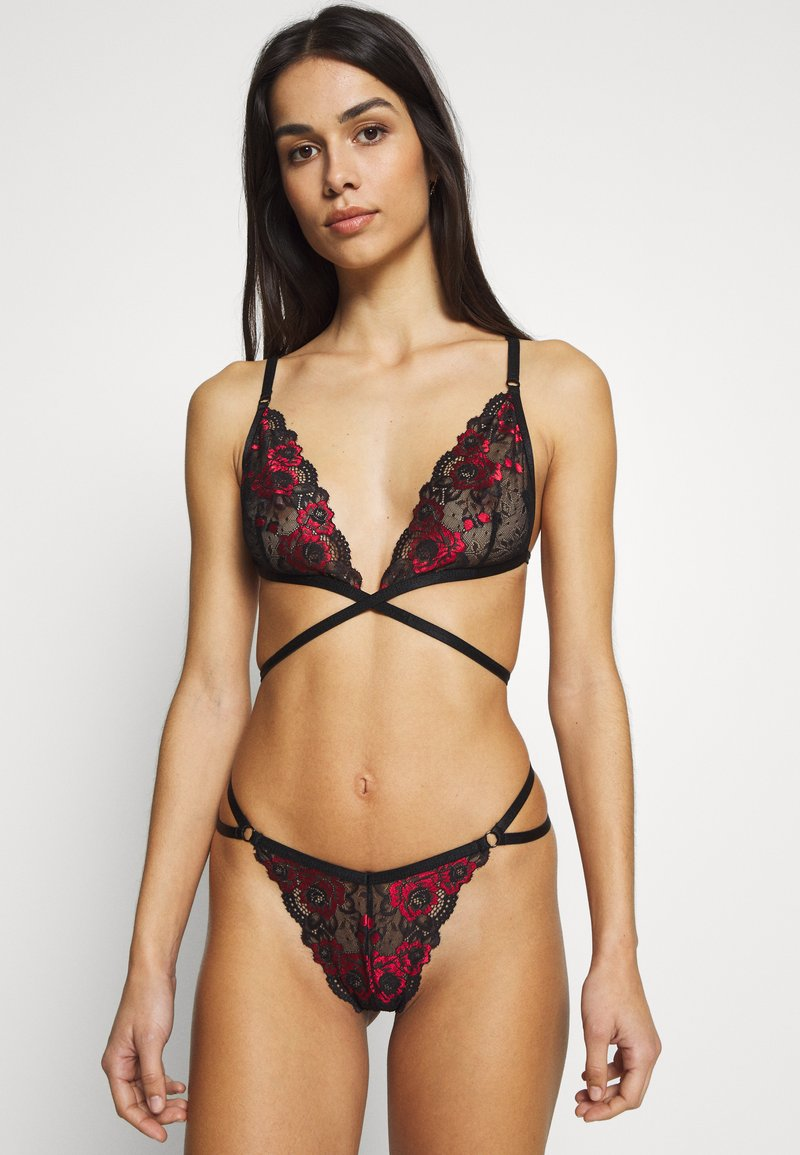 Ann Summers - THE CHEEKY SET - String - black/red