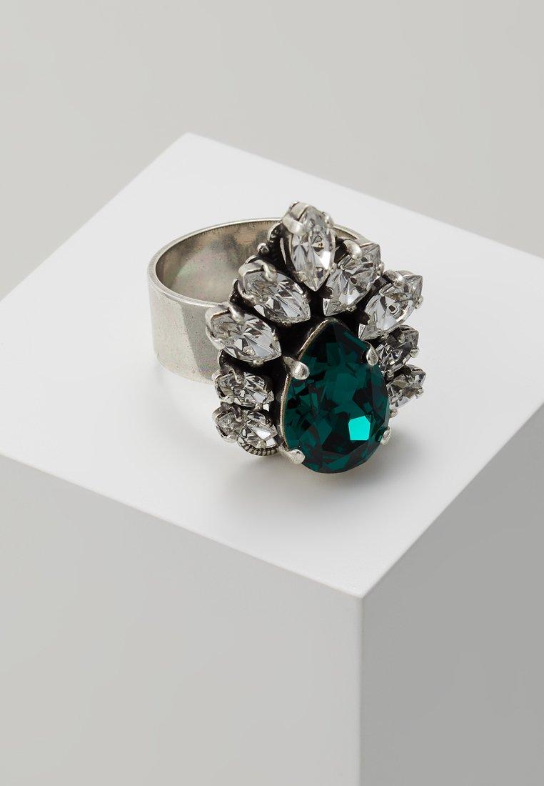 Anton Heunis - GEM CLUSTER RING - Bague - emerald/opaque colours