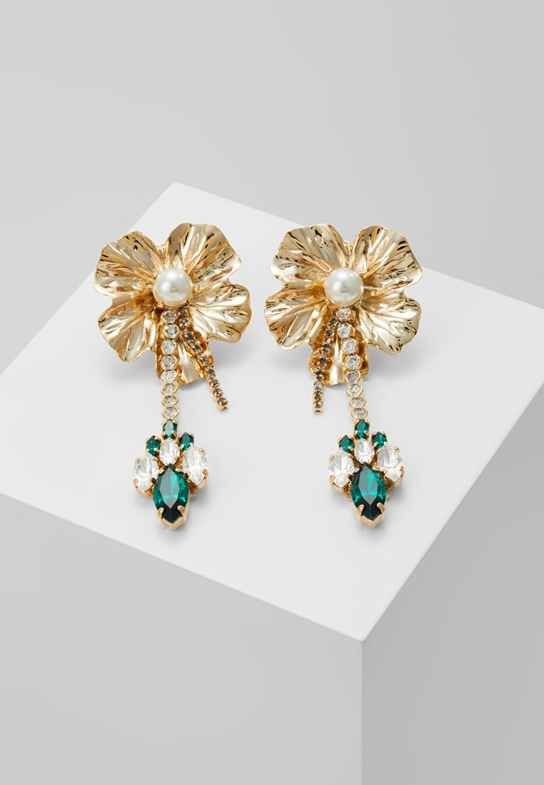 Anton Heunis - DANGLY FLOWER WITH PENDANT EARRINGS - Earrings - green