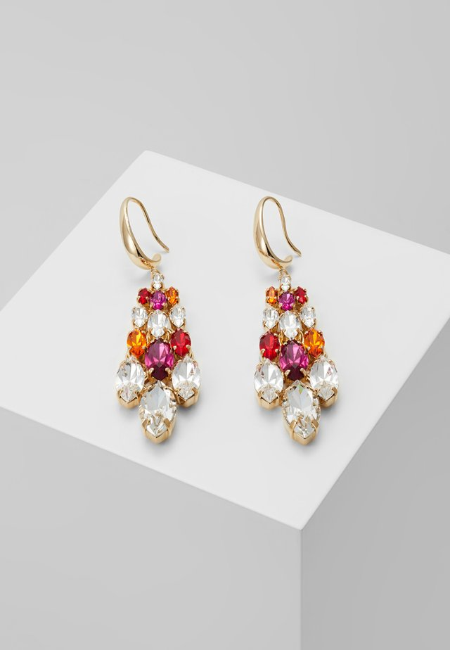 BIG HARLEQUIN EARRINGS - Kolczyki - fuchsia