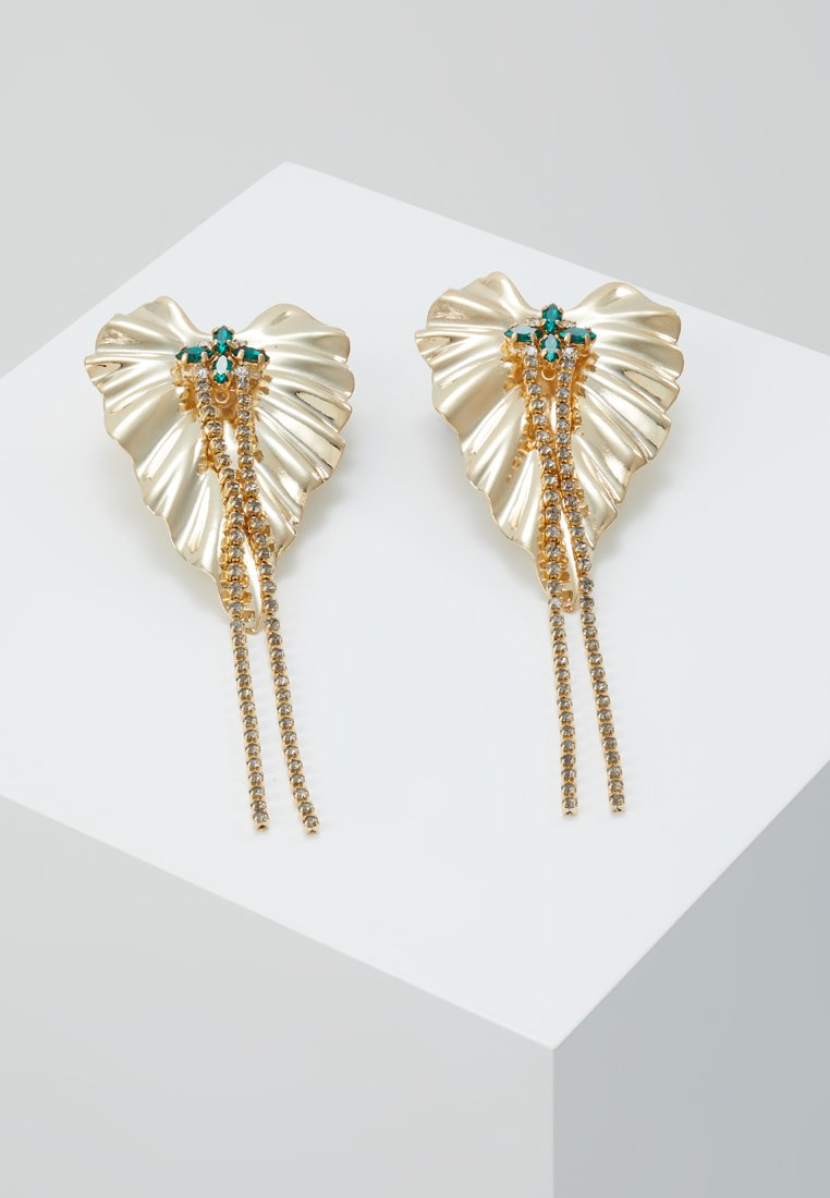 Anton Heunis - DANGLY IVY EARRINGS - Ohrringe - gold-colored/green