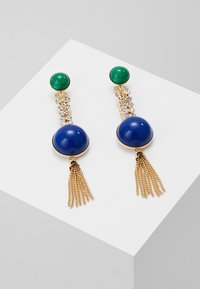 Anton Heunis - EARRING OMEGA CLASP HALF SPHERE WITH TASSEL - Korvakorut - blue/green/gold-coloured - 0
