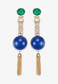 Anton Heunis - EARRING OMEGA CLASP HALF SPHERE WITH TASSEL - Korvakorut - blue/green/gold-coloured - 3