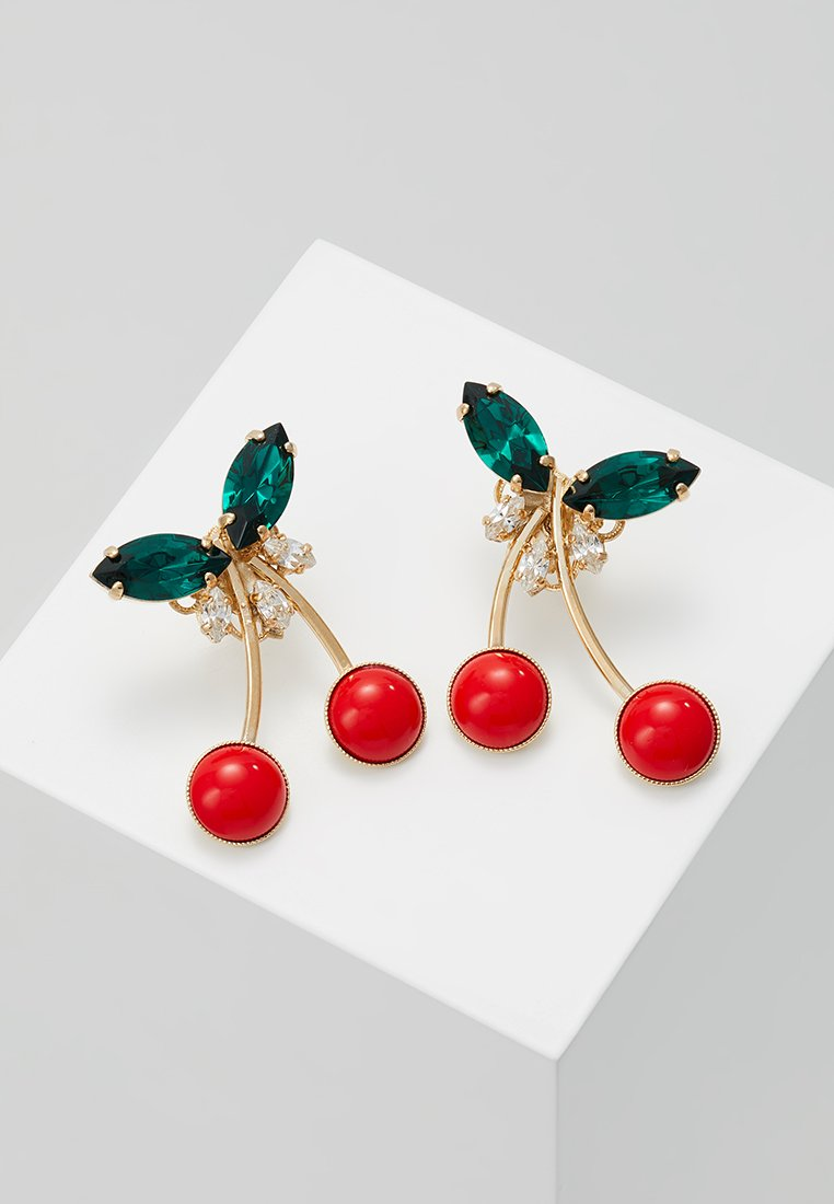 Anton Heunis - EARRING CHERRY - Earrings - red/green