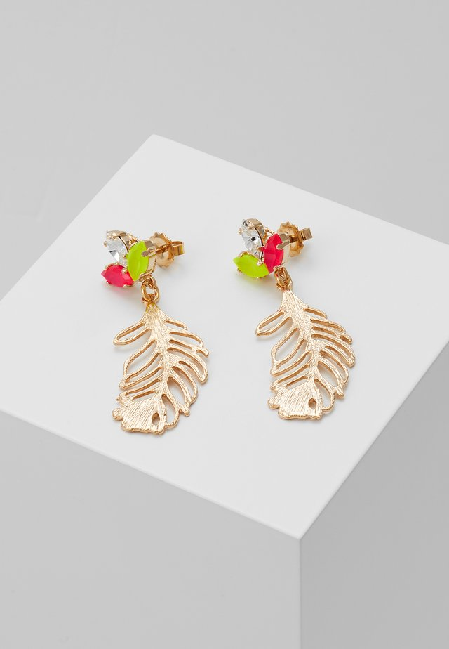 Earrings - neon/gold-coloured
