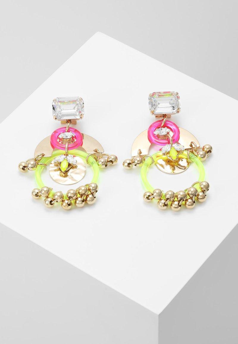 Anton Heunis - Earrings - neon/gold-coloured