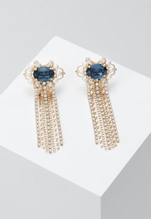 Earrings - blue /gold-coloured