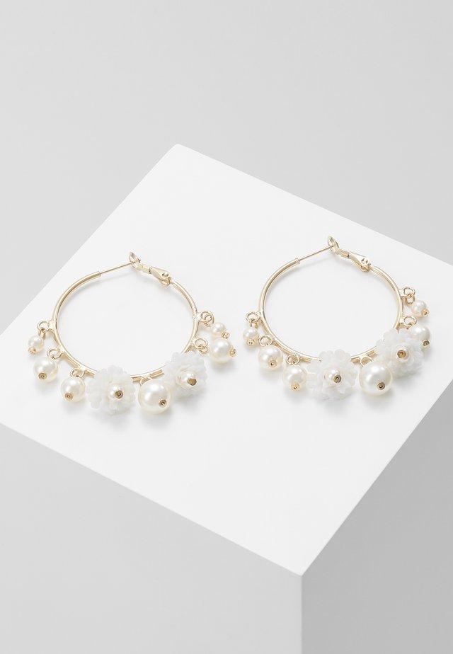 Earrings - cream
