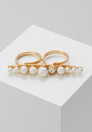Ring - cream/gold-coloured