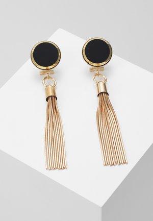 Náušnice - black/gold-coloured