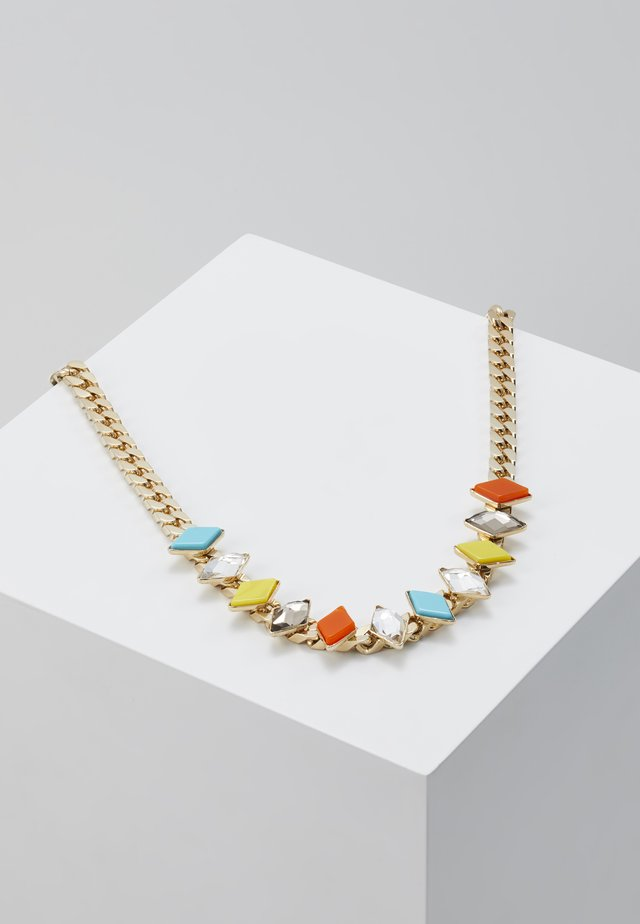 Necklace - yellow/turquoise/orange