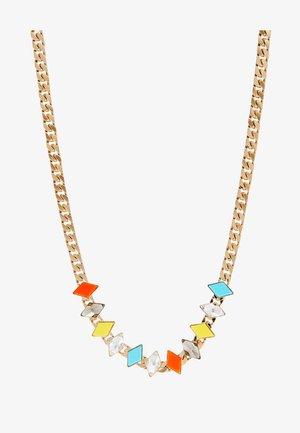 Necklace - yellow/turquoise/orange