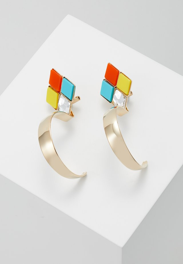 Earrings - yellow/turquoise/orange