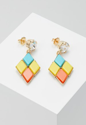 Oorbellen - yellow/turquoise/orange