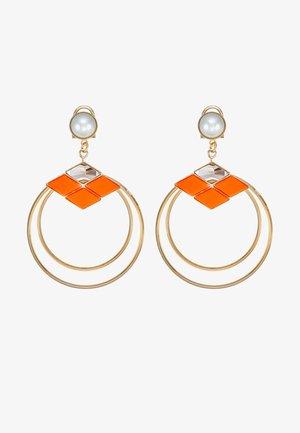 Øreringe - orange/gold-coloured