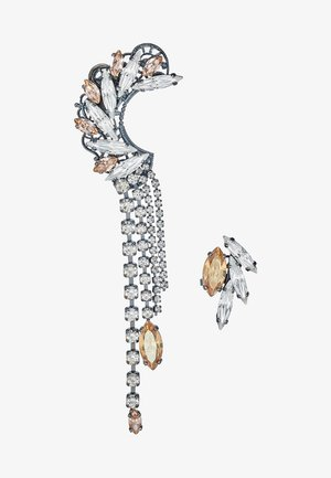 Earrings - gold/gunmetal