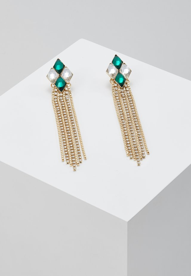 Earrings - green/gold-coloured