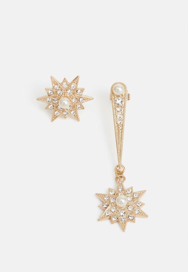 POST ASYMMETRIC TEARS STARS - Náušnice - gold-coloured