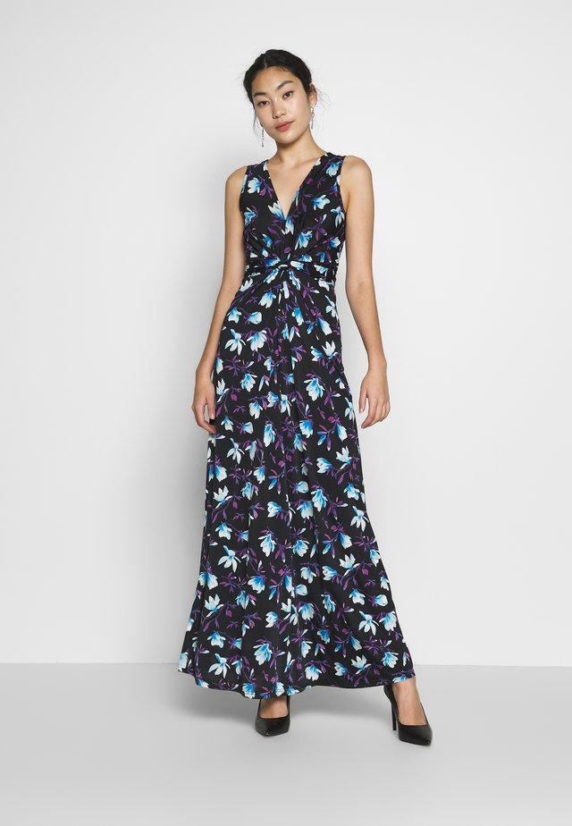 MAXI WITH TWIST - Maxikjole - black / blue