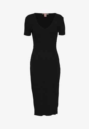 BASIC JUMPER DRESS - Vestido de punto - black