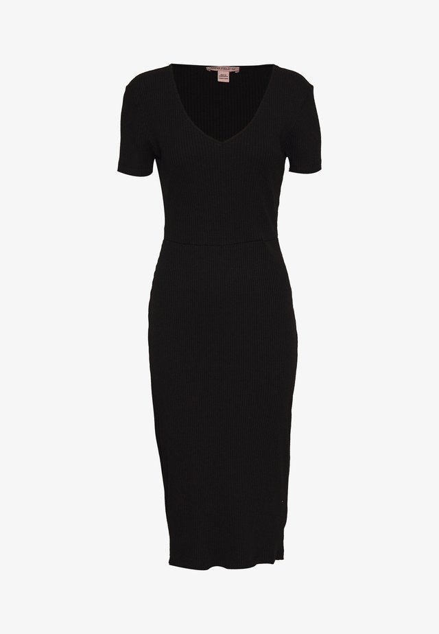 BASIC JUMPER DRESS - Gebreide jurk - black