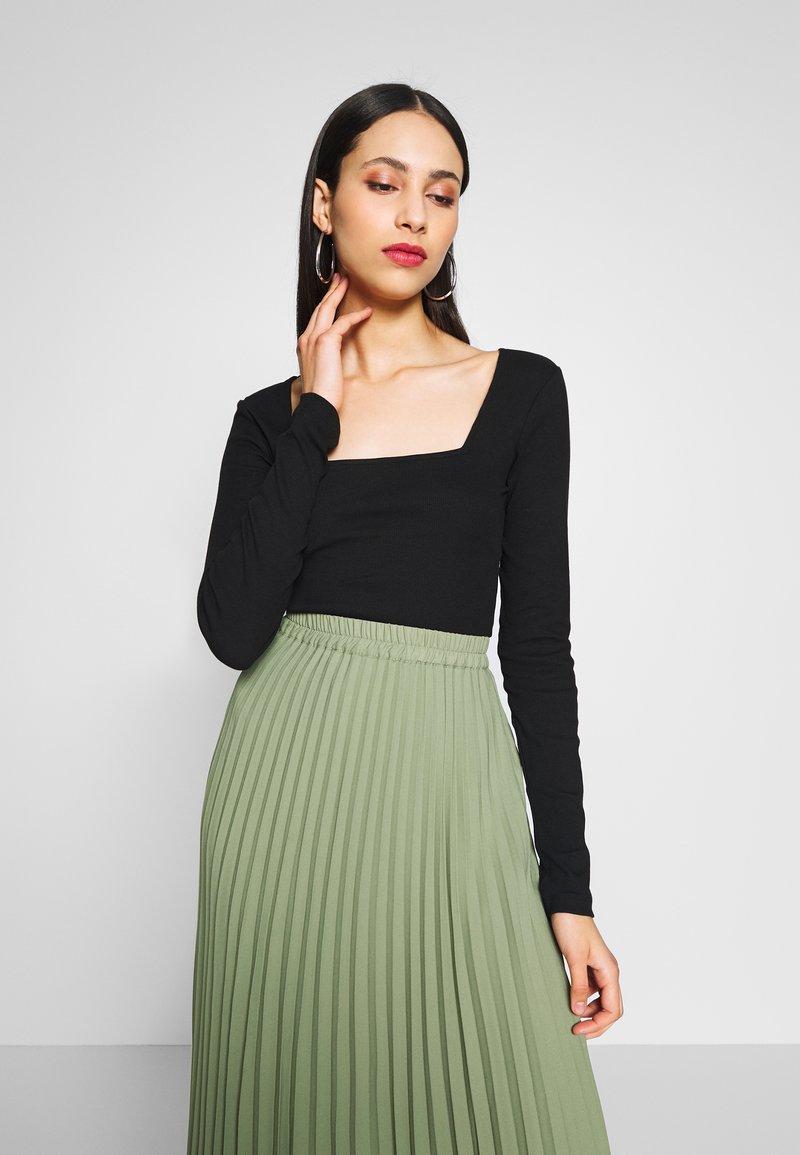 Anna Field Tall - T-shirt à manches longues - black
