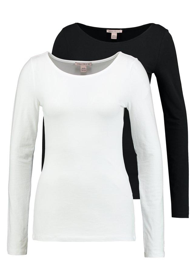 2ER PACK  - Bluzka z długim rękawem - black/white